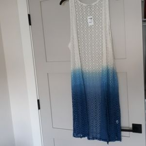 Knitted coverup or long vest